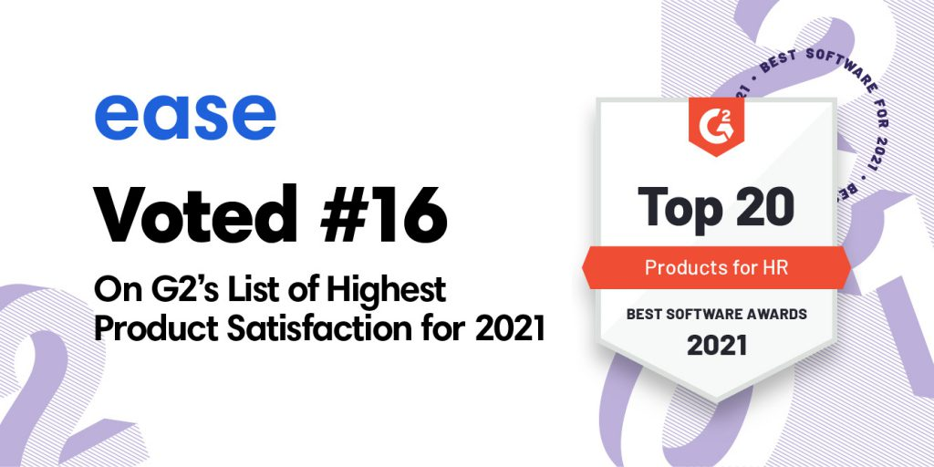 Ease ranked #16 in the list of highest ranking satisfaction