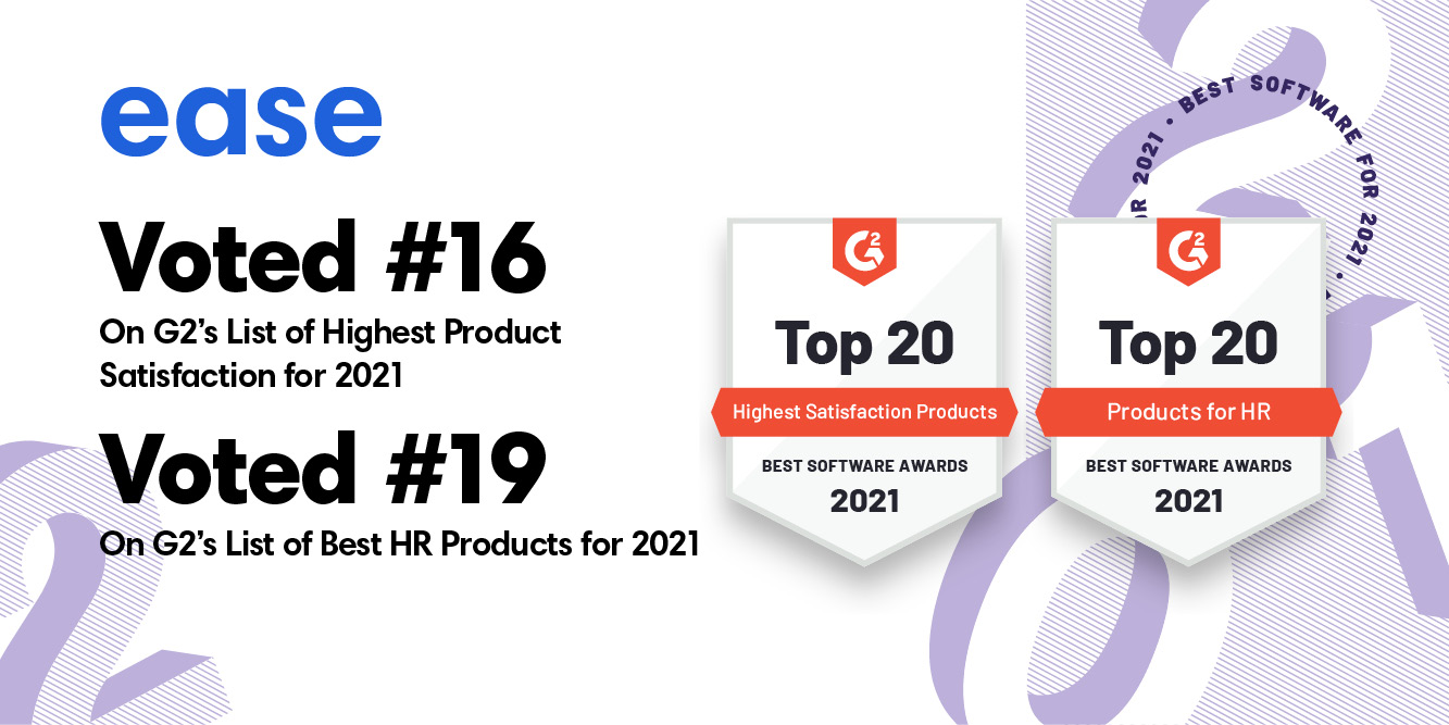 Read more about the article Ease Named in Top 20 List for Two of G2's Best Software Awards
